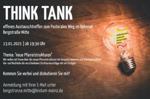 Einladung zum ThinkTank Januar